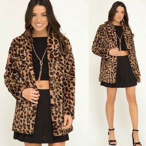Jackets & Blazers - Leopard Cheetah print faux fur jacket - Arrived!